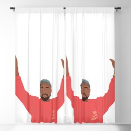 Kany- I feel like pablo - West Illustration Music Hip Hop Blackout Curtain