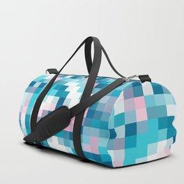 Mat Map Squares Aqua Duffle Bag