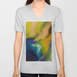 Abstract Composition 299 Unisex V-Neck