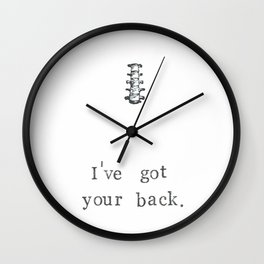 I've Got Your Back Wall Clock