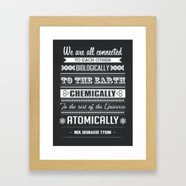 We Are All Connected (Black) Framed Art Print
