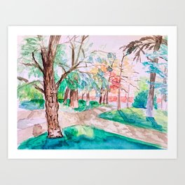 Parque de Retiro Art Print
