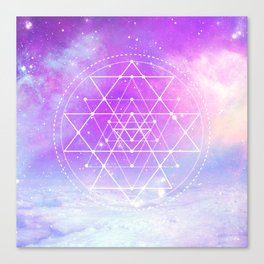 Sacred Geometry (Sri Yantra) Canvas Print