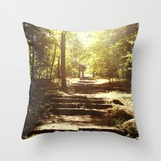 Up the Down Stairs Throw Pillow