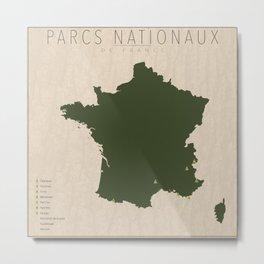 Parcs Nationaux de France Metal Print