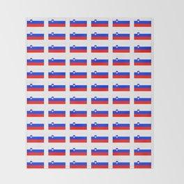 flag of slovenia - slovenia, slovenian,Slovene, Slovenija,Ljubljana,yugoslavia. Throw Blanket
