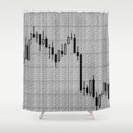 Candlestick, Forex Shower Curtain