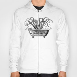 Tentacles in the Tub | Octopus in Bath | Vintage Octopus | Black and White | Hoody