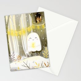 Little ghost and lantern Stationery Cards