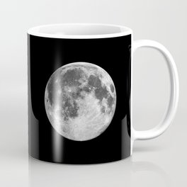 Full Moon print black-white photograph new lunar eclipse poster bedroom home wall decor Coffee Mug