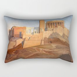 Jean-Auguste-Dominique Ingres - View of the Acropolis of Athens Rectangular Pillow