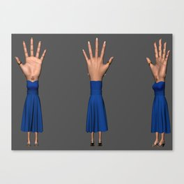 Hand-Eye-Woman Canvas Print