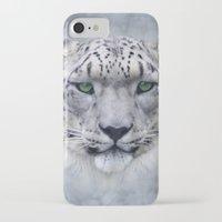 snow leopard iPhone & iPod Cases featuring snow leopard by ulas okuyucu