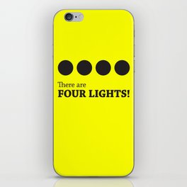 There are FOUR LIGHTS! (Black Ink) iPhone Skin