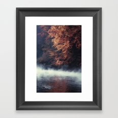 Nature's Mirror - Fall on the River Framed Art Print