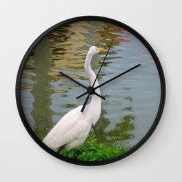 Bird | Birds | White Egret | Bird Photography Wall Clock