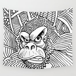 Rise of the Dawn of the Planet of the Psychedelic Apes by The Rural drawer Wall Tapestry