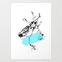 Bleu Boréal Art Print