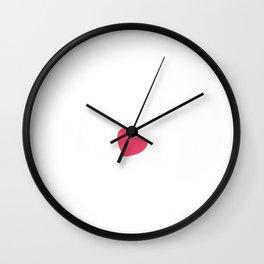 Womens Pro Life Gift Print Anti Abortion Heart And Arrow Tee Wall Clock