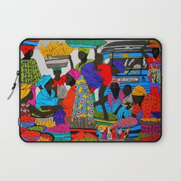 African marketplace 2 Laptop Sleeve