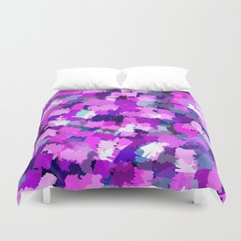 Abstract Violet Purple Girly Doodle Pattern Duvet Cover