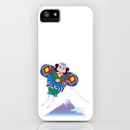Japanese Kite and Mt.Fuji iPhone Case