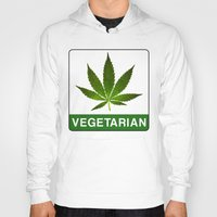 vegetarian Hoodies featuring VEGETARIAN Weed by Spyck