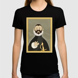 Nobleman with his Hand on his Chest by Greco T-shirt