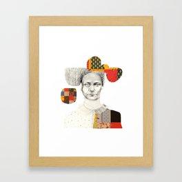 Le patchwork femme Framed Art Print