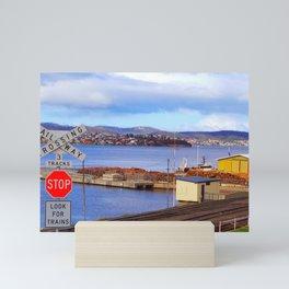 Crossed Rail Hobart Tasmania Australia Mini Art Print