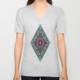 Fluid Abstract 33 Unisex V-Neck