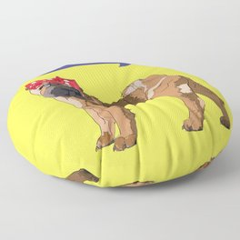 Political Pup-When We All Vote Shar Pei Floor Pillow