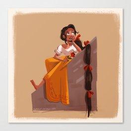 Mexican Rapunzel Canvas Print