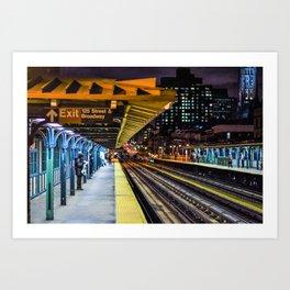 1 Stop at Night Art Print