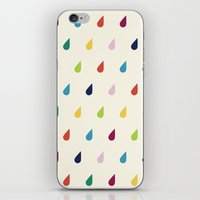 xbox iPhone & iPod Skins featuring Raindrops by Cute Cute Cute