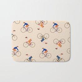 Bike Pattern Bath Mat