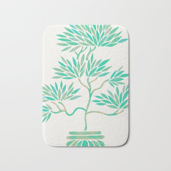 Bonsai Tree – Mint Palette Bath Mat