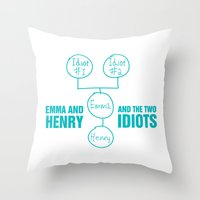 regina mills Throw Pillows featuring Regina Sassy Mills | The two idiots by CLM Design
