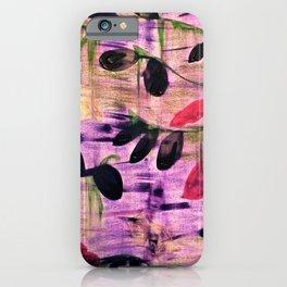 Purple Garden. Purple, Vines, Garden, Flowers, Green, Abstract, Jodilynpaintings iPhone Case