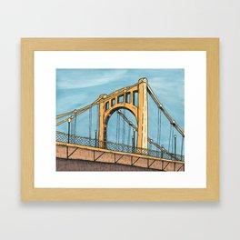 Roberto Clemente Bridge - Pittsburgh Framed Art Print