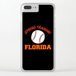 Baseball Spring Training 2018 Clear iPhone Case