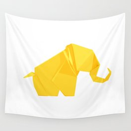 Origami Elephant Wall Tapestry