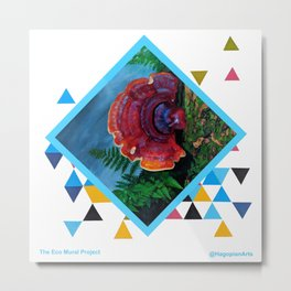 Eco Mural Project 2: Symbiosis: Fungus Metal Print