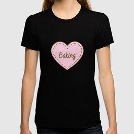 I Love Baking Simple Heart Design T-shirt