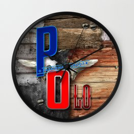 passionate about polo Wall Clock