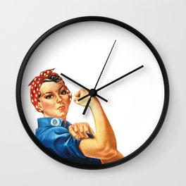 Pro Union Strong - Union Proud Rosie the Riveter Wall Clock