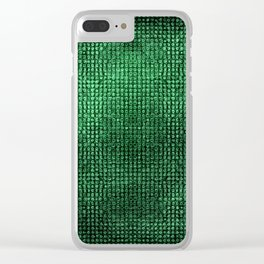 Green Metallic Surface Clear iPhone Case