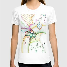 Colorful Rainbow Eye Drawing T-shirt