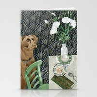 labrador Stationery Cards featuring Geometry Labrador by Yuliya