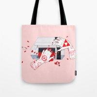 nintendo Tote Bags featuring Nintendo Dentata by scoobtoobins